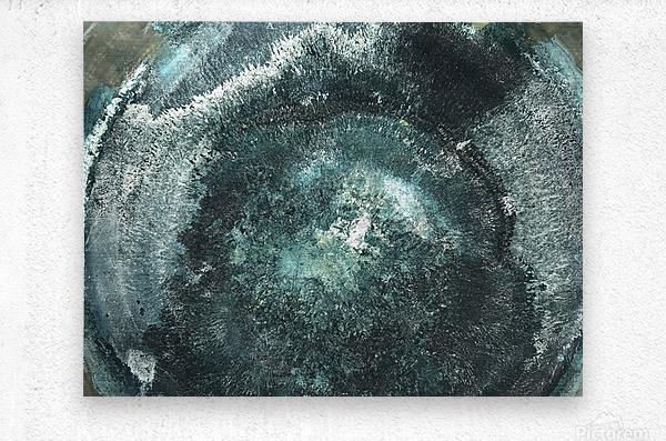 Crystal Midnights in Indigo  Metal print