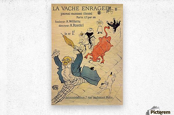 La vache enragee by Toulouse-Lautrec  Metal print