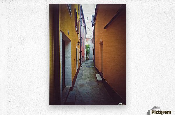 Alleyway  Metal print
