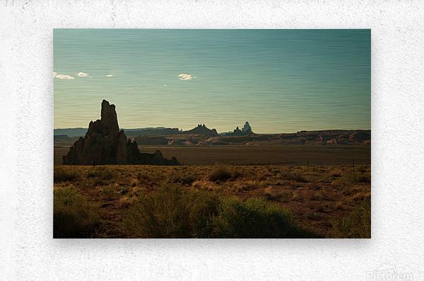 Desert Scene Sunset  Metal print