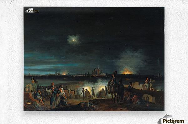 De beschieting van's Hertogenbosch door de Fransen tijdens het beleg van 1794  Metal print