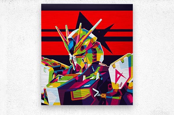 Rx-93 v Gundam NU Gundam  Metal print