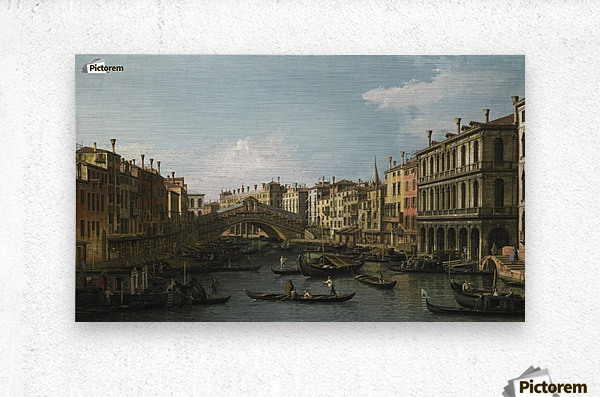 Venice, a view of the Piazza San Marco looking East towards the Basilica  Metal print