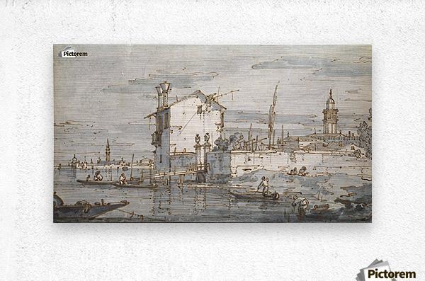 An Island in the Lagoon  Metal print