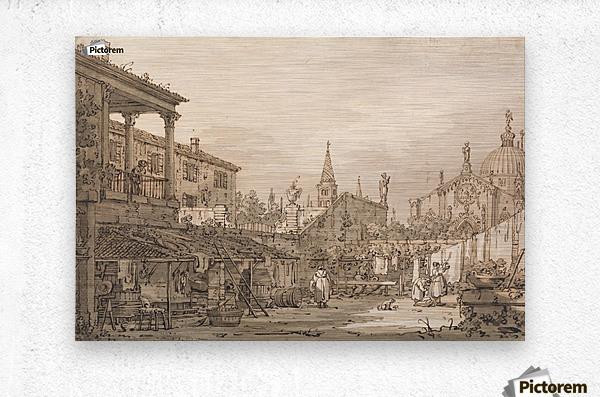 Capriccio of a Venetian Courtyard  Metal print