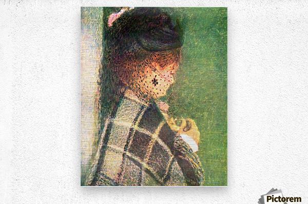Lady with veil by Renoir  Metal print