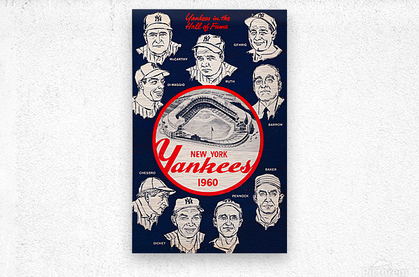 1960 New York Yankees In The Hall Of Fame Art  Metal print