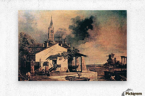 Lagoon landscape by Canaletto  Metal print