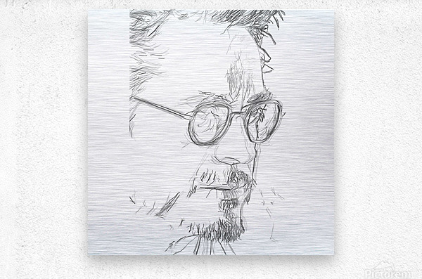 Robert Downy Jr. - Celebrity Pencil Art  Impression metal