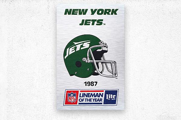 1987 new york jets vintage nfl poster  Metal print