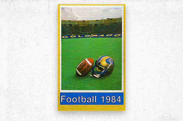 1984 colorado buffaloes football  Metal print