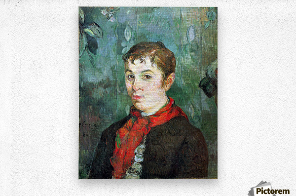 Landlord s Daughter by Gauguin  Metal print