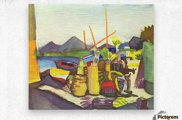 Landscape at Hammamet by Macke  Metal print