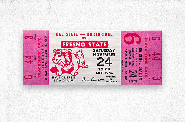 1973 cal state northridge fresno state bulldogs  Metal print