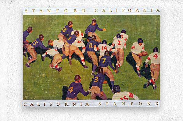 1927 cal stanford big game art vintage college football  Metal print