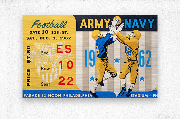 1962_Vintage College Football_Army vs. Navy_Municipal Stadium_  Metal print