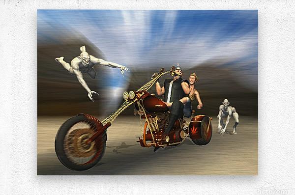 Desert Ride  Metal print