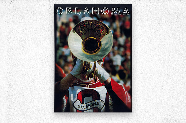 1983 pride of oklahoma retro college marching band poster  Metal print