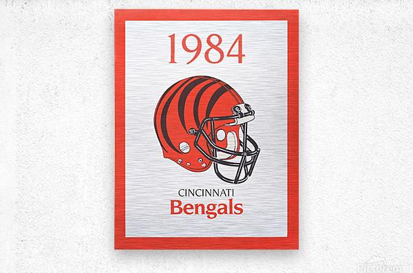 1984 cincinnati bengals retro helmet poster  Metal print
