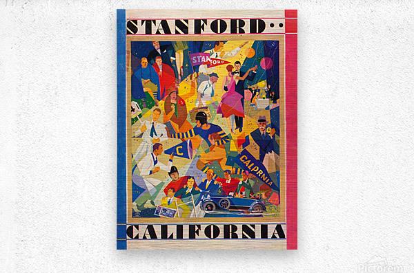 1928 cal stanford football program cover artwork for walls  Metal print