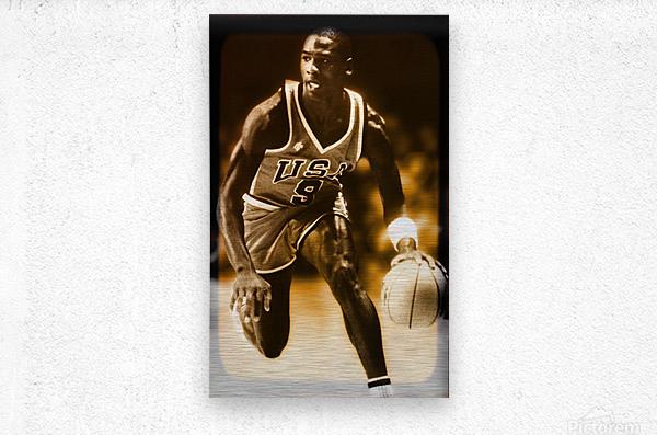 1984 michael jordan usa olympic basketball team  Metal print