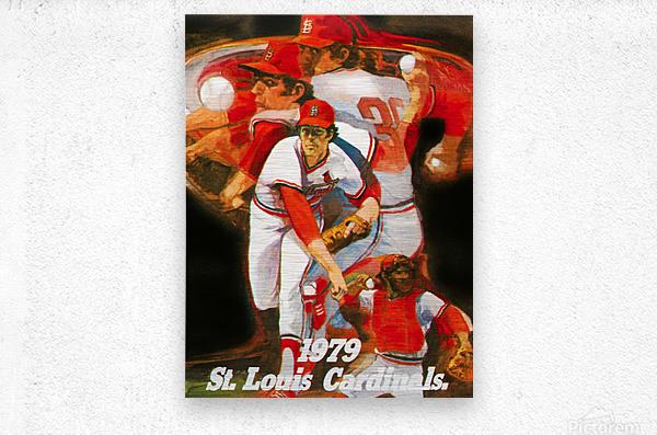 1979 st louis cardinals retro baseball poster  Metal print