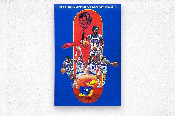 1977 kansas ku jayhawk basketball poster  Metal print