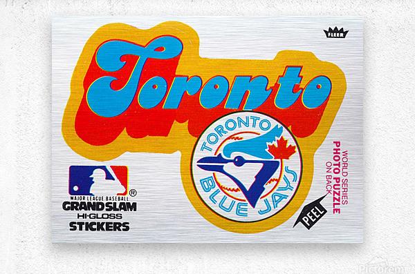 1978 toronto blue jays fleer decal baseball art reproduction poster  Metal print