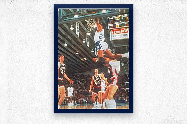 1984 johnny dawkins duke basketball dunk poster (1)  Metal print
