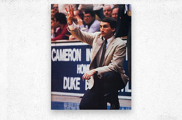 college basketball art coach k duke university basketball poster  Metal print