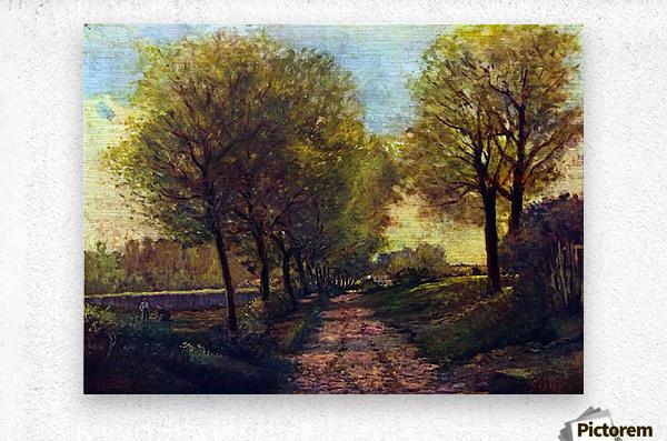 Lane near a small Town by Sisley  Metal print