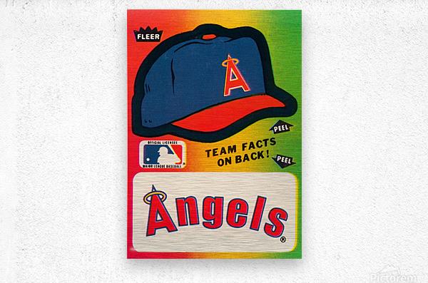 1983 fleer baseball sticker california angels poster  Metal print