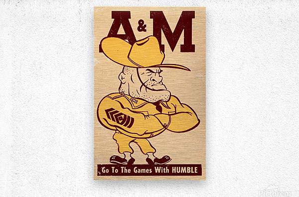 Vintage Texas A&M Ol Sarge Art  Metal print