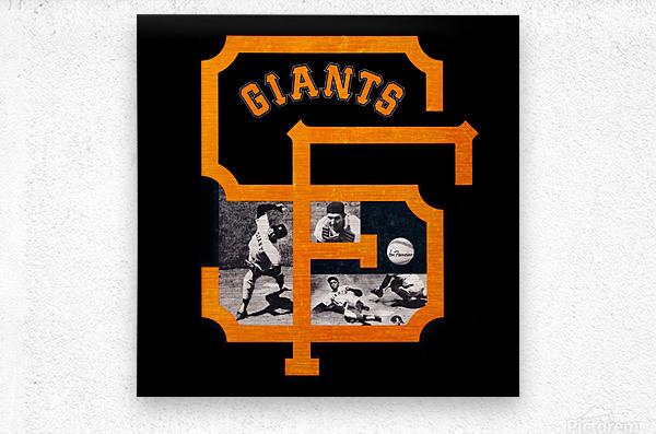 Vintage San Francisco Giants Acrylic Wall Art Sign  Metal print