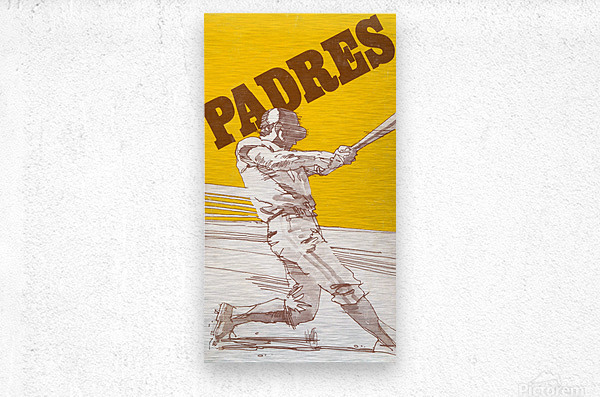 1974 san diego padres art reproduction  Metal print