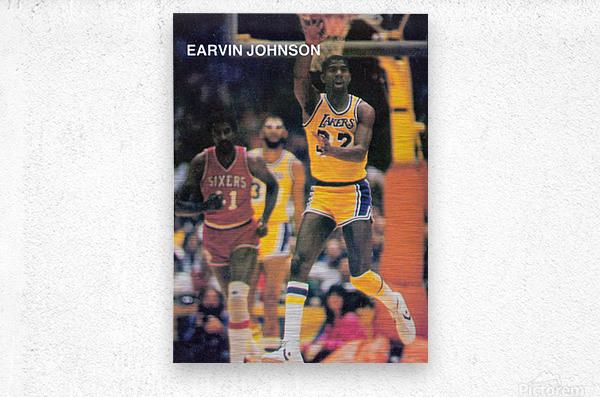 1983 Magic Johnson LA Lakers Retro Poster  Metal print
