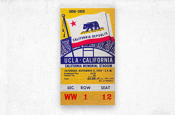 1950_College_Football_California vs. UCLA_California Memorial Stadium  Metal print
