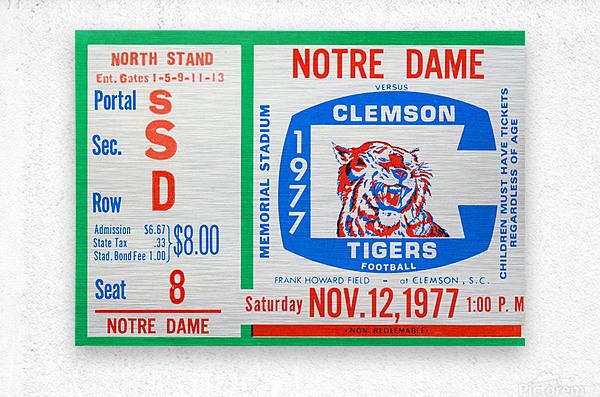 1977 Notre Dame vs. Clemson  Metal print
