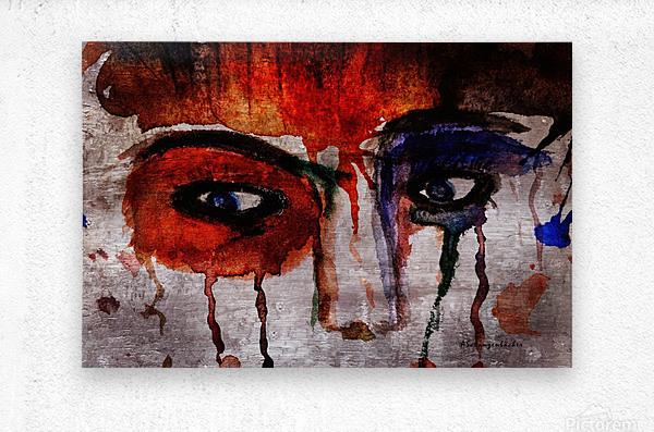 Life through her eyes  Metal print