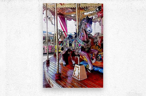 Merry Go Round Horses  Metal print