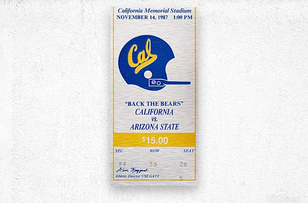 1987 Cal Bears vs. Arizona State  Metal print