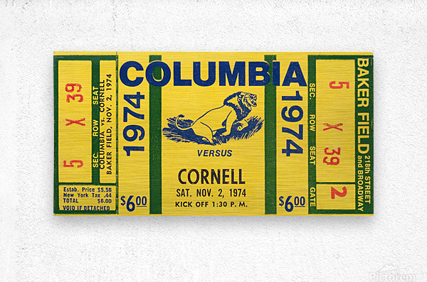 1974 Cornell vs. Columbia  Metal print