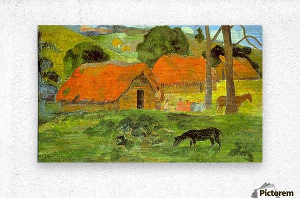 Le Trois Huttes by Gauguin  Metal print