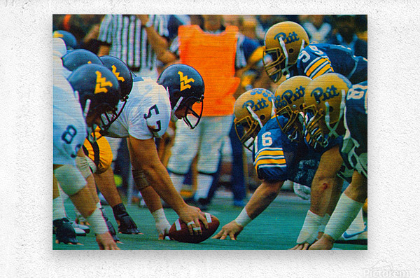 1981 College Football Photo West Virginia Pitt Panthers Wall Art  Metal print
