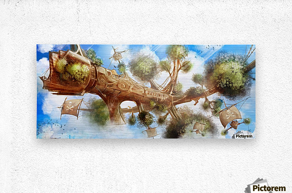 Tree Ship  Metal print