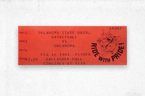 1983 Oklahoma vs. OSU Bedlam Basketball  Metal print