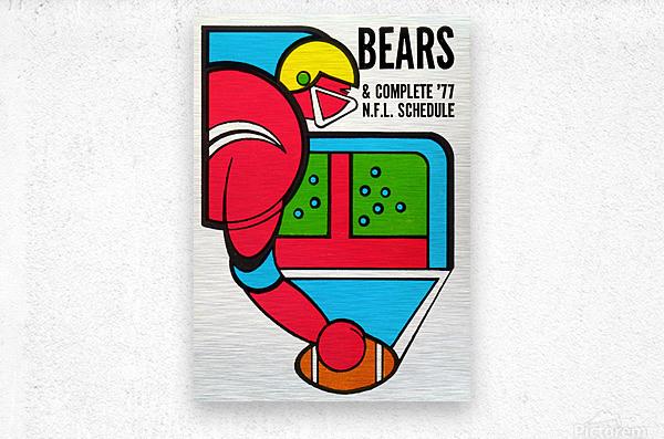 1977 Chicago Bears Schedule  Metal print