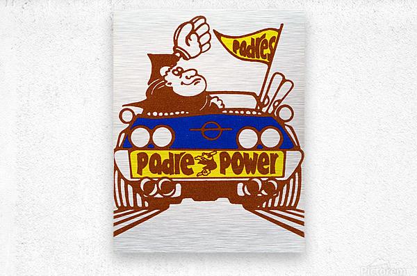 1976 padre power poster san diego  Metal print