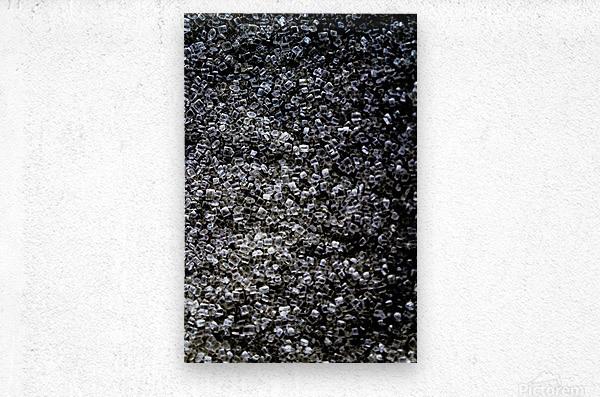 sugary diamonds  Metal print
