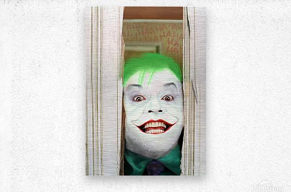 Heres The Joker  Metal print